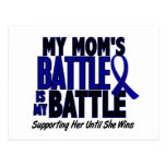 Colon Cancer MY BATTLE TOO 1 Mom Postcard