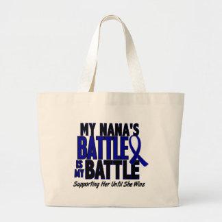 Colon Cancer MY BATTLE TOO 1 Nana Large Tote Bag