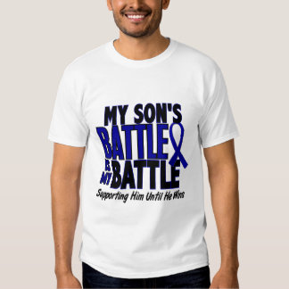 Colon Cancer MY BATTLE TOO 1 Son T Shirt