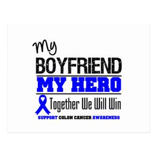 Colon Cancer My Boyfriend My Hero Post Card