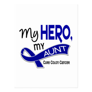Colon Cancer MY HERO MY AUNT 42 Postcard