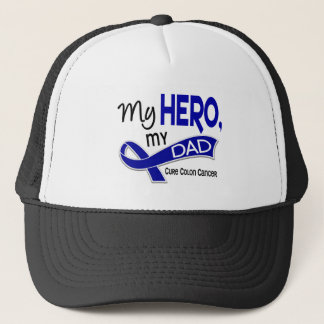 Colon Cancer MY HERO MY DAD 42 Trucker Hat