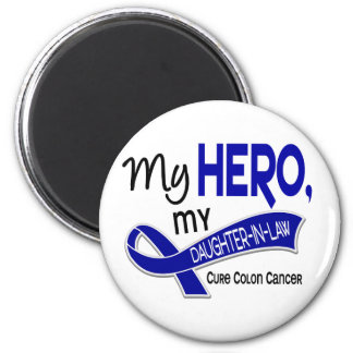 Colon Cancer MY HERO MY DAUGHTER-IN-LAW 42 2 Inch Round Magnet
