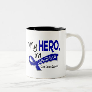 Colon Cancer MY HERO MY DAUGHTER-IN-LAW 42 Two-Tone Coffee Mug
