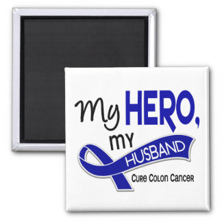 Colon Cancer MY HERO MY HUSBAND 42 Magnet