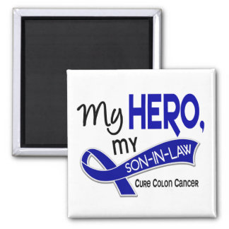 Colon Cancer MY HERO MY SON-IN-LAW 42 2 Inch Square Magnet