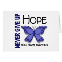 Colon Cancer Never Give Up Hope Butterfly 4.1