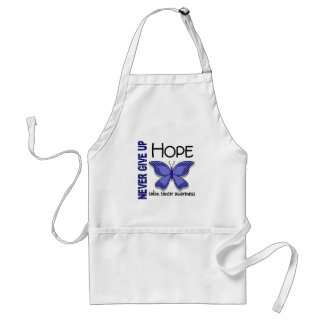 Colon Cancer Never Give Up Hope Butterfly 4.1 Adult Apron