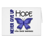 Colon Cancer Never Give Up Hope Butterfly 4.1 Cards