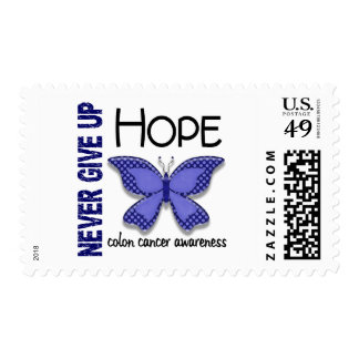 Colon Cancer Never Give Up Hope Butterfly 4.1 Postage