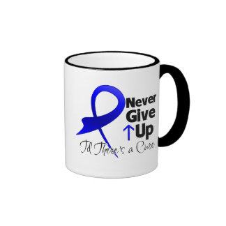 Colon Cancer Never Give Up Ringer Coffee Mug