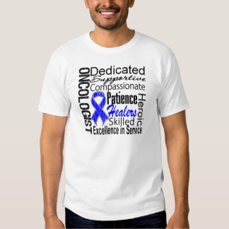 Colon Cancer Oncologist Collage Tee Shirt