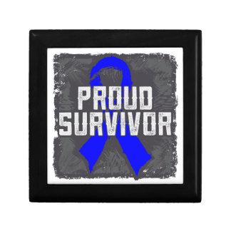 Colon Cancer Proud Survivor Jewelry Box