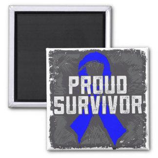 Colon Cancer Proud Survivor Fridge Magnet