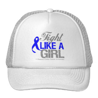 Colon Cancer Ribbon - Fight Like a Girl Hat