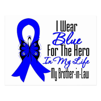 Colon Cancer Ribbon Hero My Brother in Law Postcard