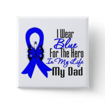 Colon Cancer Ribbon Hero My Dad Pinback Button