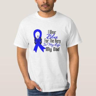 Colon Cancer Ribbon Hero My Dad Tee Shirt