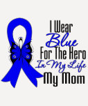 Colon Cancer Ribbon Hero My Mom Tee Shirt