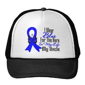 Colon Cancer Ribbon Hero My Uncle Trucker Hats