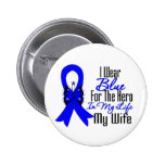 Colon Cancer Ribbon Hero My Wife 2 Inch Round Button