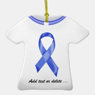 Colon Cancer Ribbon Shirt Christmas Ornaments