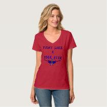 Colon Cancer Rock Star Ladies Nano V-Neck T-Shirt