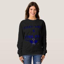 Colon Cancer Rock Star Ladies Sweatshirt