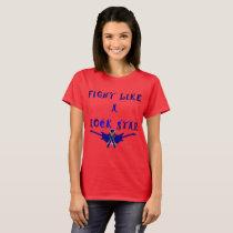 Colon Cancer Rock Star Ladies T-Shirt