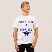 Colon Cancer Rock Star Men's Burnout T-Shirt
