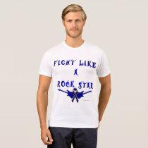 Colon Cancer Rock Star Men's Poly-Cotton T-shirt