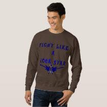 Colon Cancer Rock Star Men's Sweatshirt