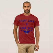 Colon Cancer Rock Star Men's T-Shirt