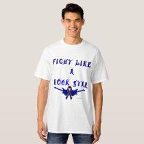 Colon Cancer Rock Star Men's Tall T-shirt