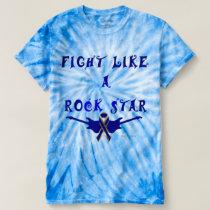 Colon Cancer Rock Star Men's Tie-Dye T-shirt
