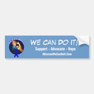 Colon Cancer - Rosie The Riveter - We Can Do It Car Bumper Sticker