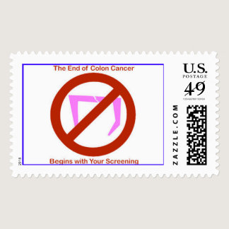 Colon Cancer Screening Symbol Postage