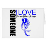 Colon Cancer Someone I Love Earned Their Wings Greeting Cards