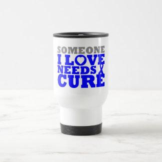 Colon Cancer Someone I Love Needs A Cure Travel Mug