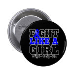 Colon Cancer Sporty Fight Like a Girl Button