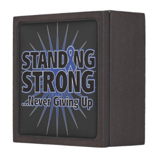 Colon Cancer Standing Strong Premium Jewelry Box