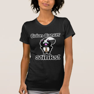 Colon Cancer Stinks Skunk Awareness Design T-Shirt