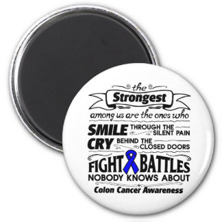 Colon Cancer Strongest Among Us 2 Inch Round Magnet