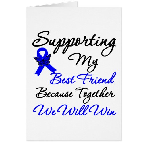 Colon Cancer Support (Best Friend) Card