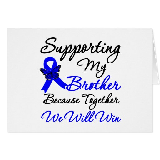 Colon Cancer Support (Brother) Greeting Card
