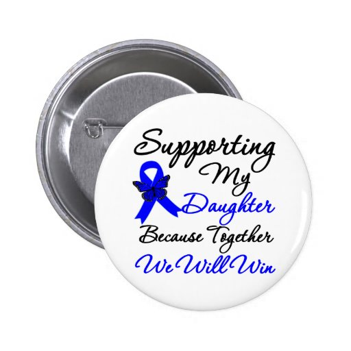 Colon Cancer Support (Daughter) Pin