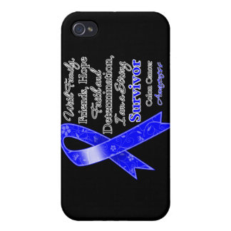 Colon Cancer Support Strong Survivor Cover For iPhone 4