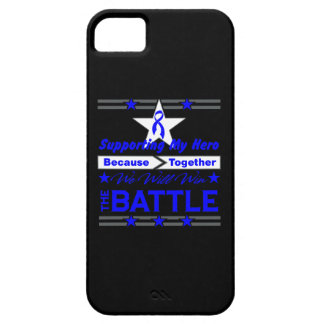 Colon Cancer Supporting My Hero iPhone 5 Cases