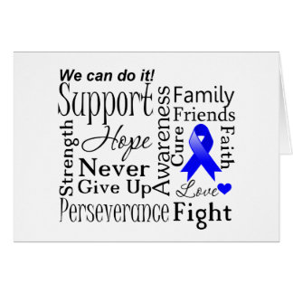 Colon Cancer Supportive Words Card