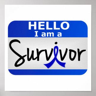 Colon Cancer Survivor 24.png Print